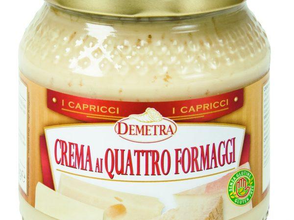 CREMA 4 FORMAGGI G.550 VETRO DEMETRA