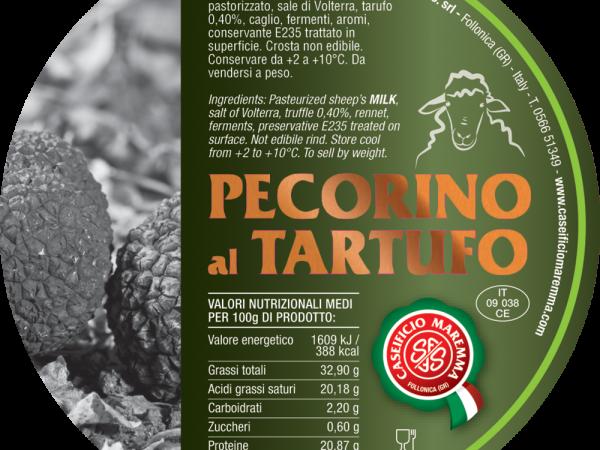 PECORINO AL TARTUFO MAREMMA GR 300 circa  S/V